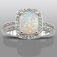 Lab Created Opal & Lab Created White Sapphire Ring at Kmart.com