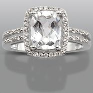 Sterling Silver Lab Created White Sapphire Ring at Kmart.com