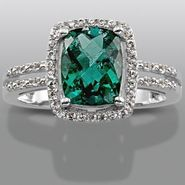 Lab Created Emerald & Lab Created White Sapphire Ring at Sears.com