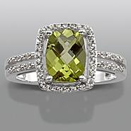 Peridot & Lab Created White Sapphire Ring at Sears.com
