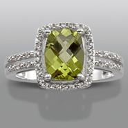 Peridot & Lab Created White Sapphire Ring at Kmart.com
