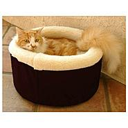 Majestic Pet Small 16in Cat Cuddler Pet Bed - Black at Kmart.com