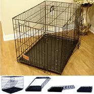 "Majestic Pet 42"" Majestic Pet Double Door Folding Dog Crate Cage - Large at Kmart.com"