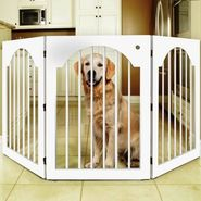 Majestic Pet Universal Free Standing Pet Gate (Wood insert & White) at Kmart.com