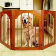 Majestic Pet Universal Free Standing Pet Gate (Wood insert & Cherry Stain) at Kmart.com