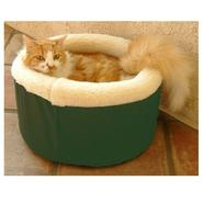 Majestic Pet Medium 20in Cat Cuddler Pet Bed - Green at Sears.com