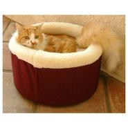 Majestic Pet Medium 20in Cat Cuddler Pet Bed - Burgundy at Sears.com