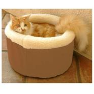 Majestic Pet Medium 20in Cat Cuddler Pet Bed - Khaki at Kmart.com