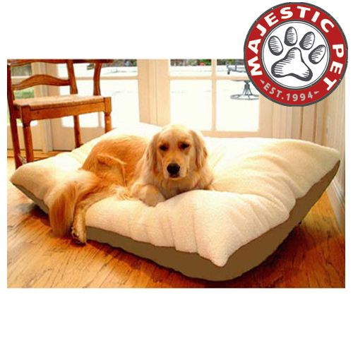 Majestic Pet Extra Large 42x60 Rectangle Pet Bed - Khaki