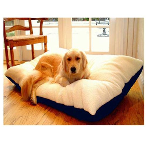 Majestic Pet Large 36x48 Rectangle Pet Bed - Blue
