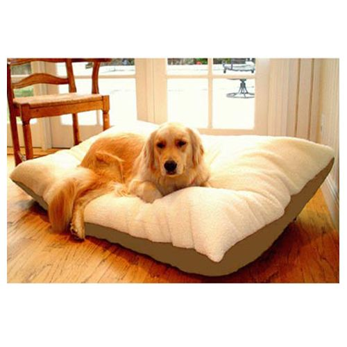 Majestic Pet Large 36x48 Rectangle Pet Bed - Khaki