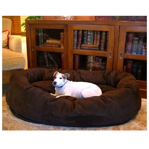 Majestic Pet 32in Bagel Dog Pet Bed Suede