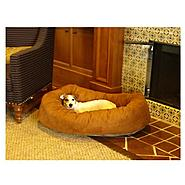 Majestic Pet 52in Bagel Dog Pet Bed Suede Rust at Sears.com