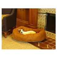 Majestic Pet 52in Bagel Dog Pet Bed Suede Rust at Kmart.com