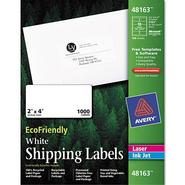 Avery Eco-friendly Labels, 2 x 4, White, 1000/Pack at Kmart.com