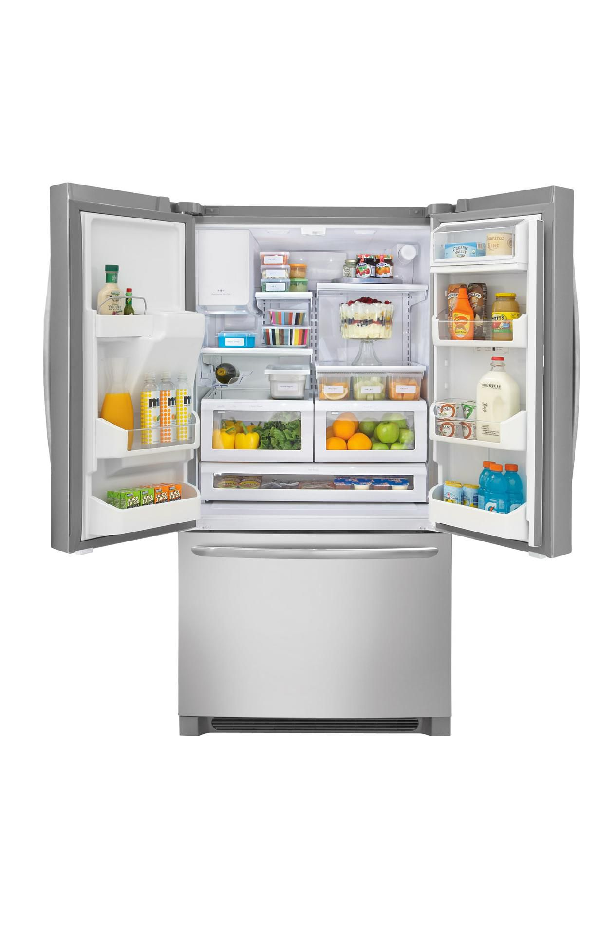 22.6 cu. ft. French-Door Counter-Depth Refrigerator - Stainless Steel                                                            at mygofer.com