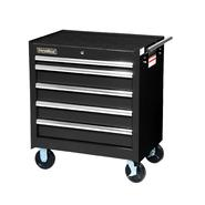 "International 27"" 5-Drawer Ball Bearing Slides Roller Cabinet Black at Sears.com"