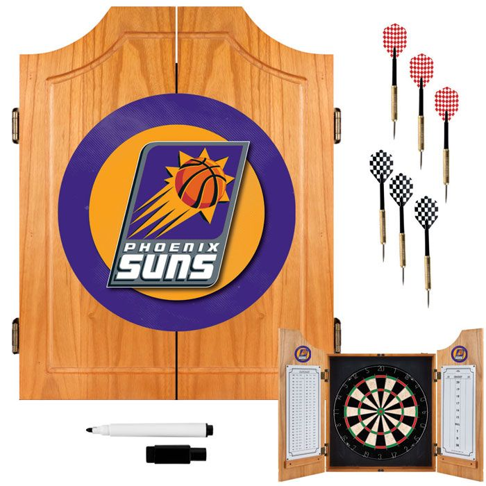 Phoenix Suns NBA Wood Dart Cabinet Set                                                                                           at mygofer.com
