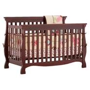 Stork Craft Carrara 4 in 1 Fixed Side Convertible Crib - Cherry at Sears.com