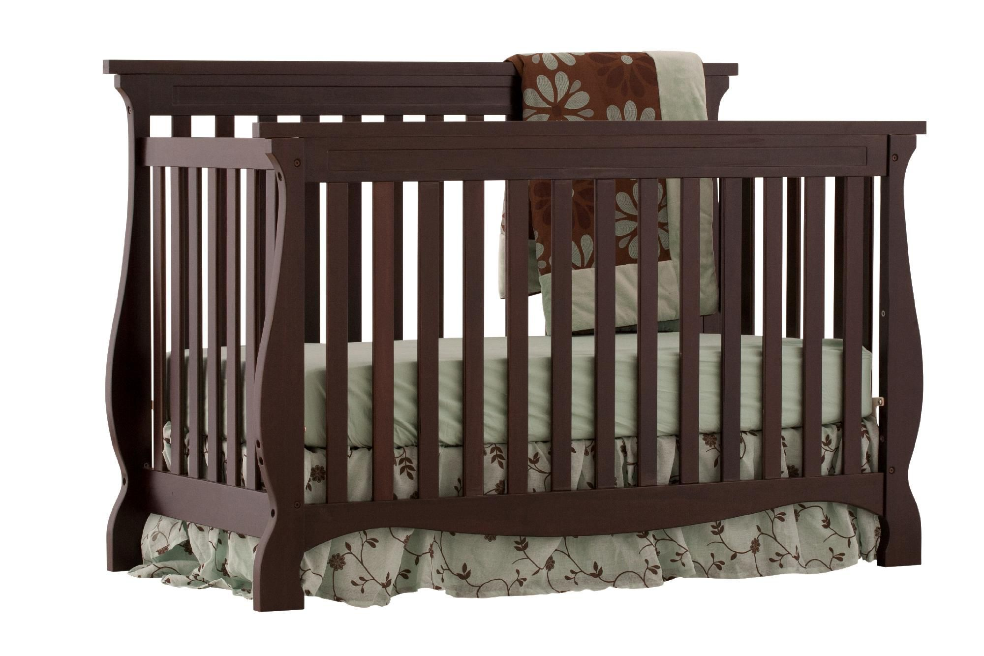 Stork Craft  Stork Craft Carrara 4 in 1 Fixed Side Convertible Crib -