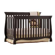 Stork Craft Carrara 4 in 1 Fixed Side Convertible Crib - Black at Sears.com