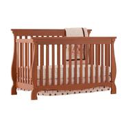 Stork Craft Carrara 4 in 1 Fixed Side Convertible Crib - Oak at Sears.com