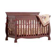 Stork Craft Venetian 4 in 1 Fixed Side Convertible Crib - Cherry at Kmart.com