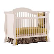 Stork Craft Valentia Fixed Side Convertible Crib - White at Sears.com