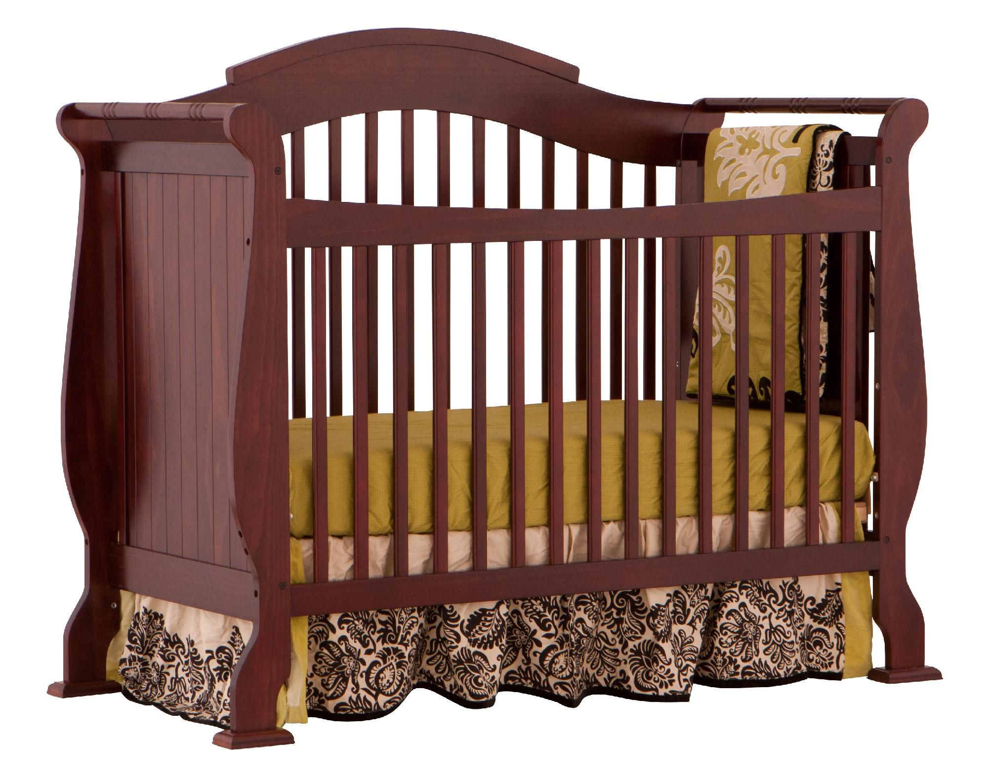 Stork Craft Valentia Fixed Side Convertible Crib - Cherry