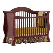 Stork Craft Valentia Fixed Side Convertible Crib - Cherry at Kmart.com