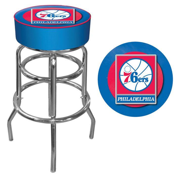 NBA Philadelphia 76ers Padded Swivel Bar Stool