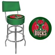 NBA Milwaukee Bucks Padded Swivel Bar Stool with Back at Kmart.com