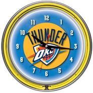 NBA Oklahoma City Thunder Double Ring Neon Clock at Sears.com