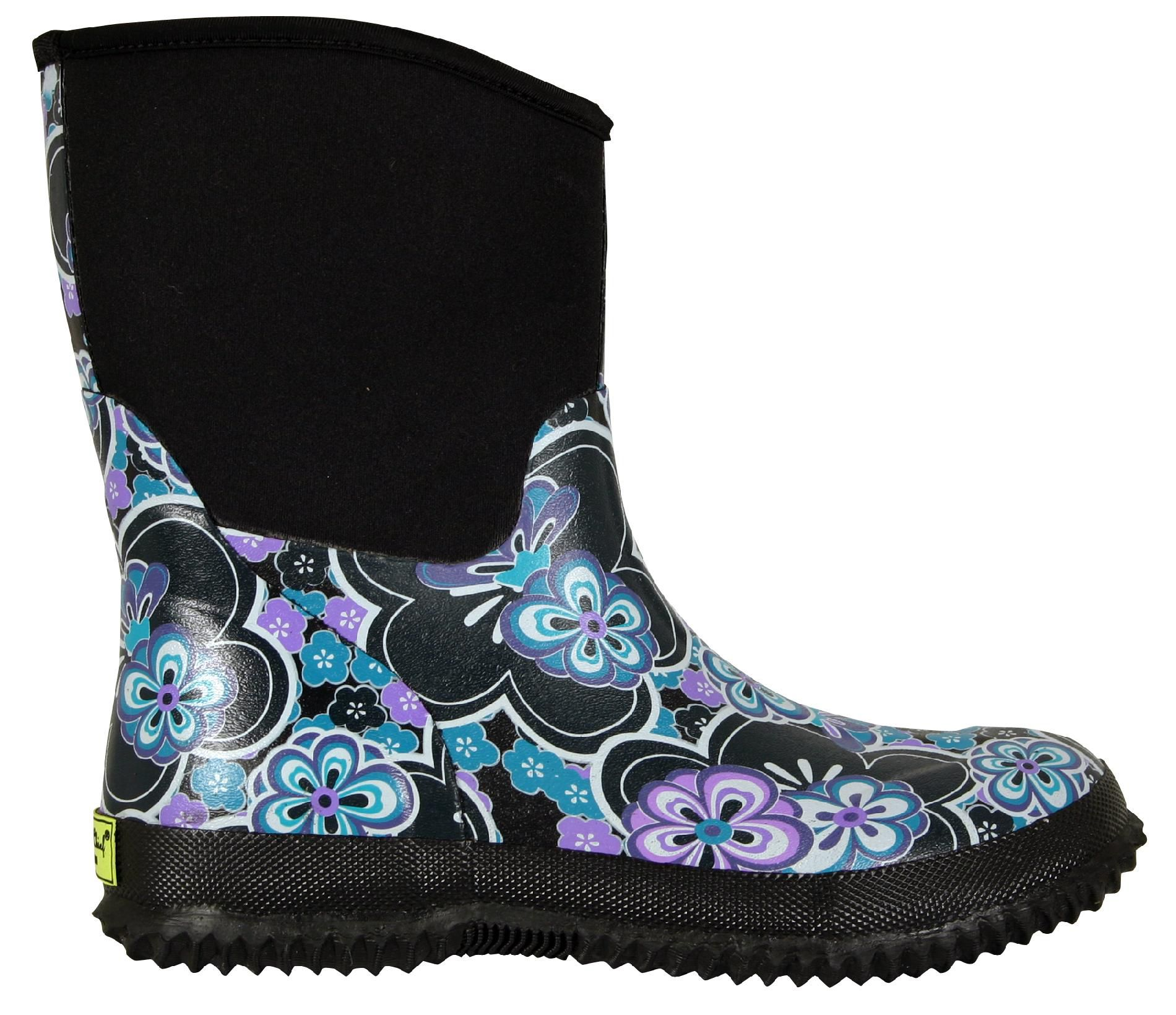 Women's Neoprene Boot Floral Breezy - Blue