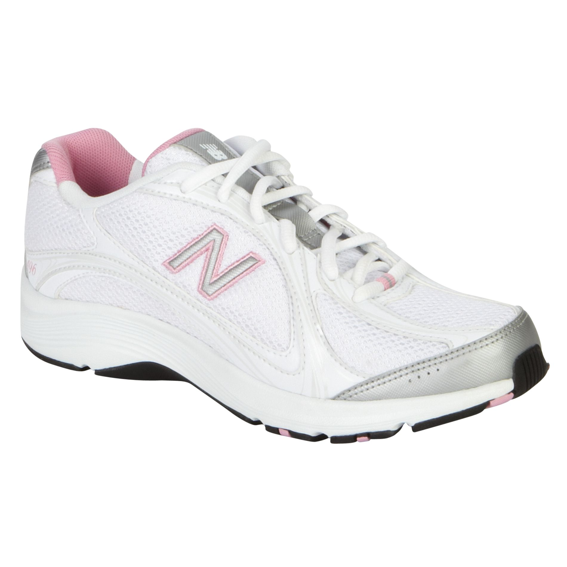New Balance Womens  White Walking Shoes