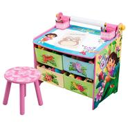 Delta Childrens Nickelodeon Dora the Explorer Art Table with Paper Roll, Wipe Board and Storage at Kmart.com