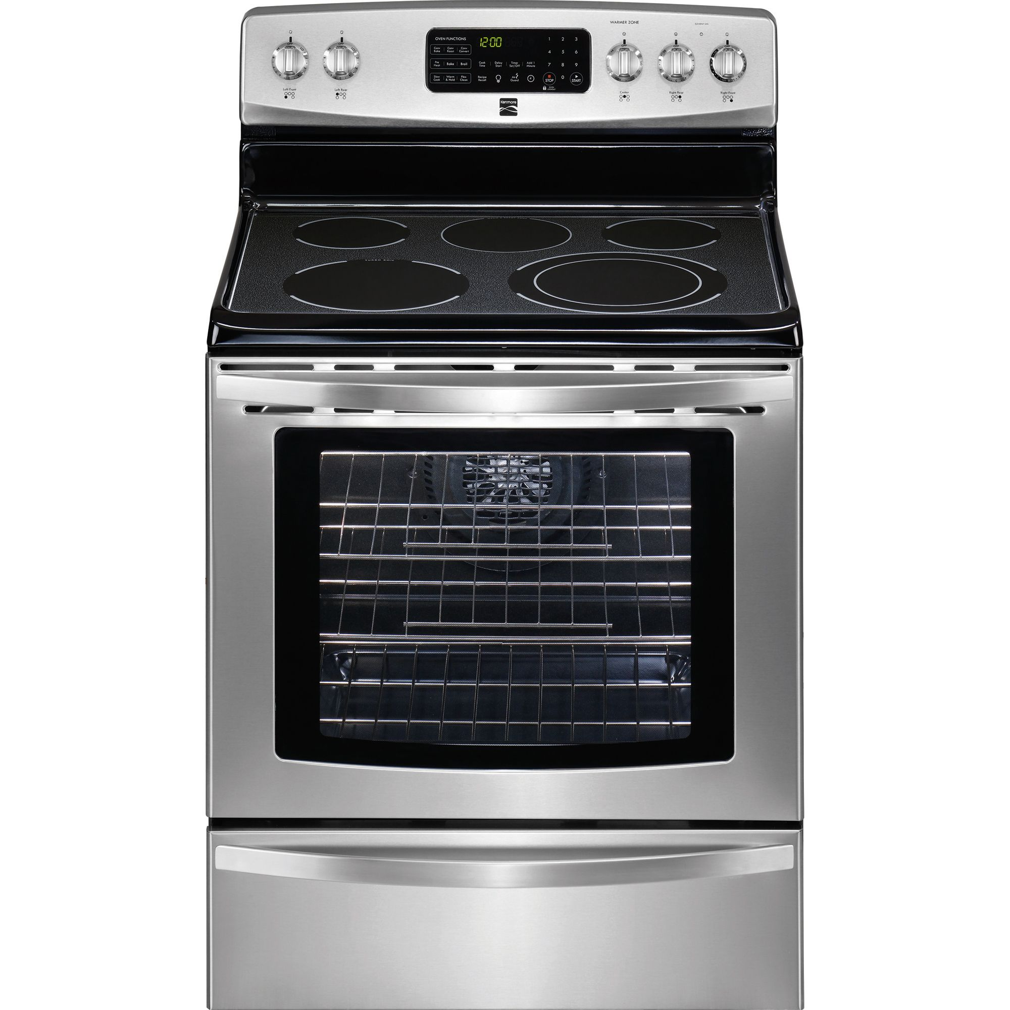 "Buy electronic stores - Kenmore 30"" Freestanding Electric Range w/ True Convection -"