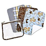 Trend-Lab Gift Set - Cowboy Zipper Pouch and 4 Burp Cloths at Sears.com