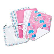 Trend-Lab Gift Set - Groovy Love Zipper Pouch and 4 Burp Cloths at Sears.com