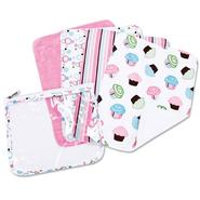 Trend-Lab Gift Set - Cupcake Zipper Pouch and 4 Burp Cloths at Sears.com