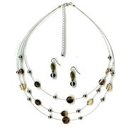 Jaclyn Smith ILLUSION SILVER NECKLACE/EARRING SET at Kmart.com
