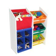 RiverRidge Kids KIDS SUPER STORAGE W/3 PRIMARY COLOR BINS, BOOK HOLDER & 6 SLOT CUBBY at Kmart.com
