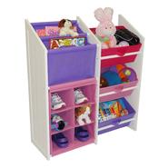 RiverRidge Kids KIDS SUPER STORAGE W/3 PASTEL BINS, BOOK HOLDER & 6 SLOT CUBBY at Kmart.com