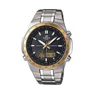 Casio Mens Edifice Calendar Day/Date  Watch w/Two-Tone Round Case, Black Dial and ST Band at Sears.com