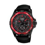 Casio Mens Diver Style Calendar Day/Date Watch w/Red/Black Case, Multi-Display Dial and Black Band at Sears.com