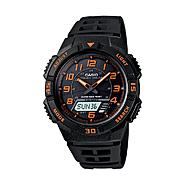 Casio Mens Calendar Day/Date Solar Power Watch w/Orange/Black Case/Dial and Black Band at Sears.com