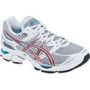 Asics Women's GEL-Cumulus 13 Running Athletic Shoe Narrow Width - White/Silver/Pink/Blue at Sears.com