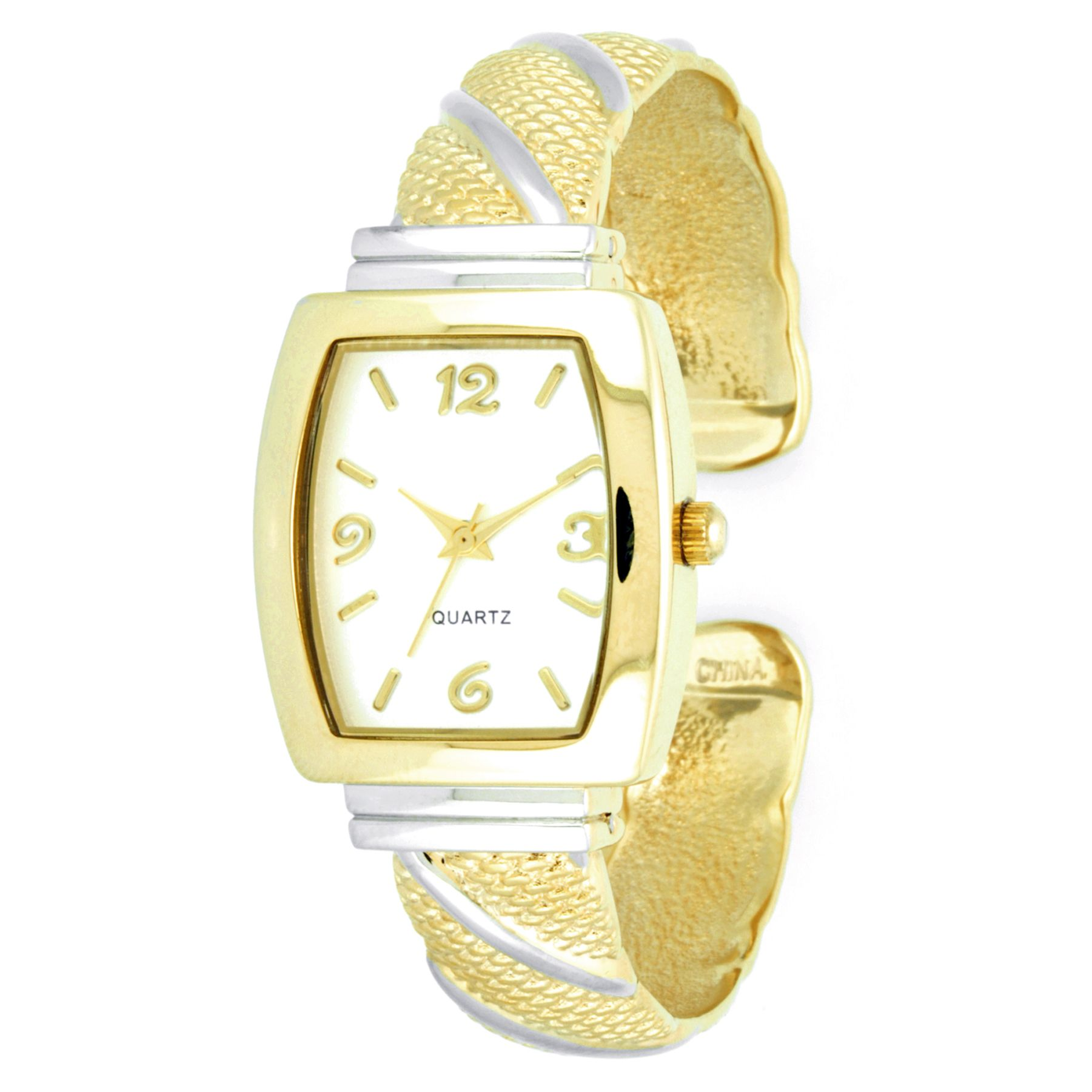 Ladies' Watch with Two-Tone Cushion Case,