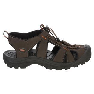 Mens Closed Toe Sandal Images Leather Slide Sandals For