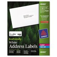 Avery Eco-friendly Labels, 1 x 2 5/8, White, 3000/Pack at Kmart.com
